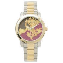 Beautiful Pink gold floral elegance Wristwatch