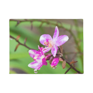 Beautiful Pink Ground Orchid Doormat