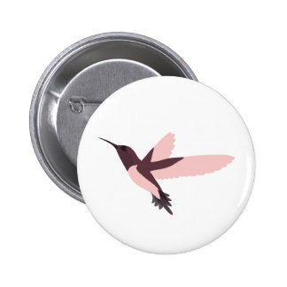 Beautiful Pink Hummingbird Button