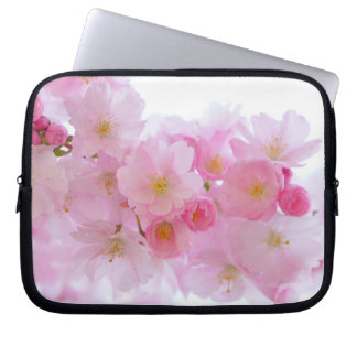 Beautiful Pink Japanese Cherry Blossom Laptop Computer Sleeves