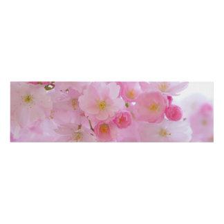 Beautiful Pink Japanese Cherry Tree Blossom Panel Wall Art