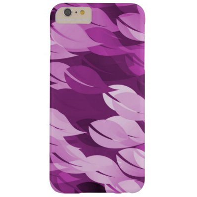 Beautiful Pink Leaf Seamless Floral Pattern Barely There iPhone 6 Plus Case