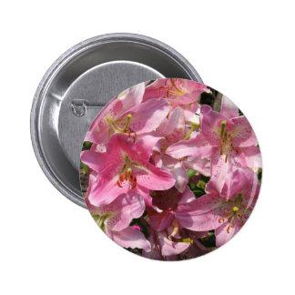 Beautiful Pink Lilies Pinback Button