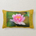 Beautiful Pink Lotus Blossom / Namaste(photog) Lumbar Pillow at Zazzle