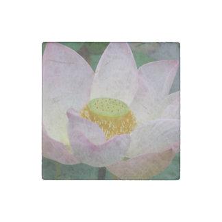 Beautiful pink lotus flower stone magnet