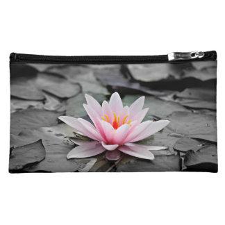 Beautiful Pink Lotus Flower Waterlily Zen Art Cosmetic Bag