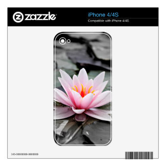Beautiful Pink Lotus Flower Waterlily Zen Art Decals For iPhone 4S