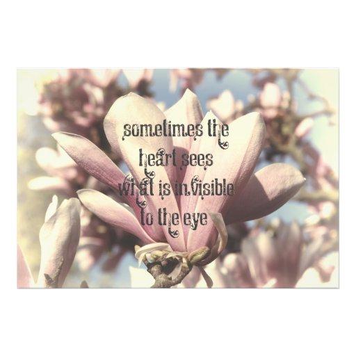 Beautiful Pink Magnolia Love Quote Art Photo