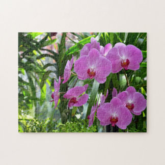 Beautiful pink moth orchid print puzzle