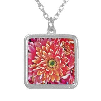 Beautiful Pink Orange Flower Petal Floral Gifts Pendant