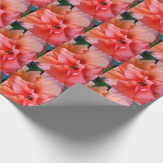 Beautiful Pink Orange Tropical Flower Photo Wrapping Paper