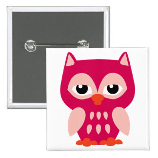 BEAUTIFUL PINK OWL BABY BUTTON