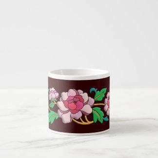 Beautiful pink peonies digital art espresso cup