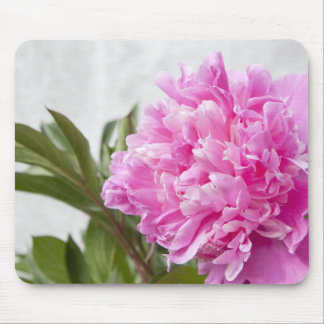 Beautiful pink peony flower floral custom mousepad
