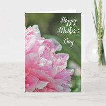 Beautiful Pink Peony Mother's Day Card