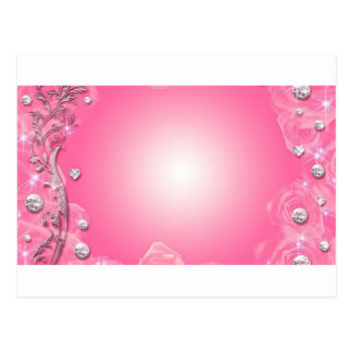 beautiful pink postcard