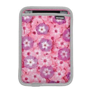 beautiful pink purple flowers art sleeve for iPad mini