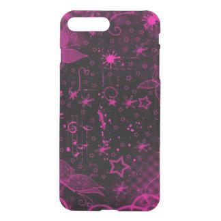 beautiful pink purple flowers stars art iPhone 8 plus/7 plus case