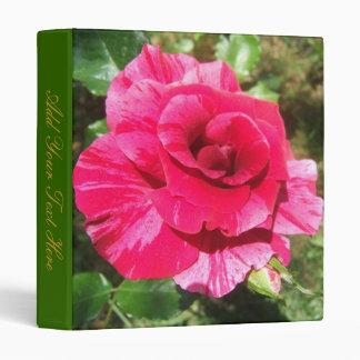 Beautiful Pink Rose Binder w/ your text