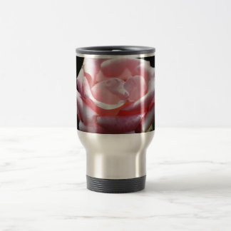 Beautiful Pink Rose Close-up Travel Mug
