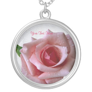 Beautiful Pink Rose Design Necklace #2