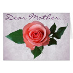 Beautiful Pink Rose for Mom Cards