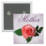 Beautiful Pink Rose for Mom Pins