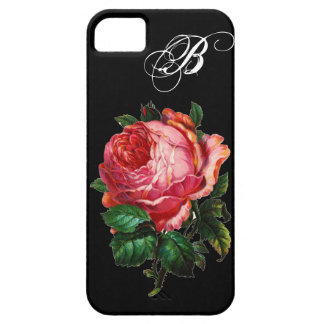 BEAUTIFUL PINK ROSE MONOGRAM iPhone 5 COVERS