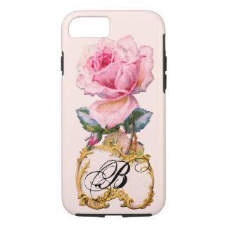 BEAUTIFUL PINK ROSE MONOGRAM iPhone 7 CASE