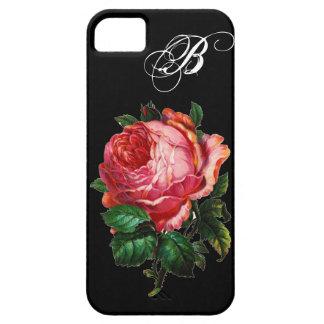 BEAUTIFUL PINK ROSE MONOGRAM iPhone SE/5/5s CASE