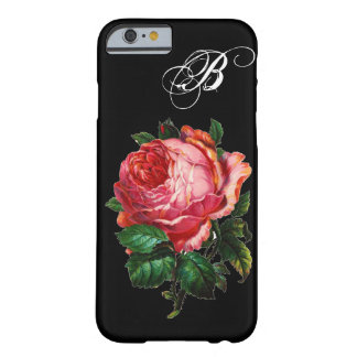 BEAUTIFUL PINK ROSE MONOGRAM iPhone 6 CASE