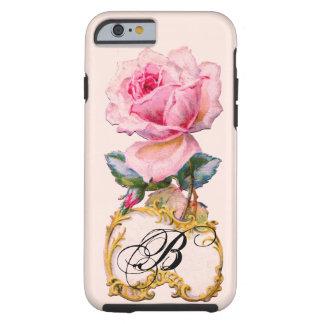 BEAUTIFUL PINK ROSE MONOGRAM TOUGH iPhone 6 CASE
