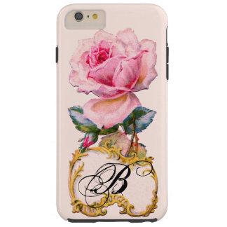 BEAUTIFUL PINK ROSE MONOGRAM TOUGH iPhone 6 PLUS CASE