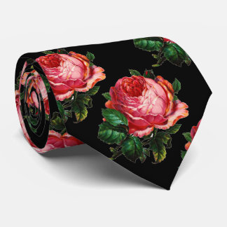BEAUTIFUL PINK ROSE NECK TIE