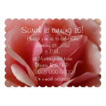 Beautiful Pink Rose Petals 16th Birthday 5x7 Paper Invitation Card