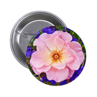 Beautiful Pink Rose - Round Button