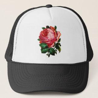 BEAUTIFUL PINK ROSE TRUCKER HAT