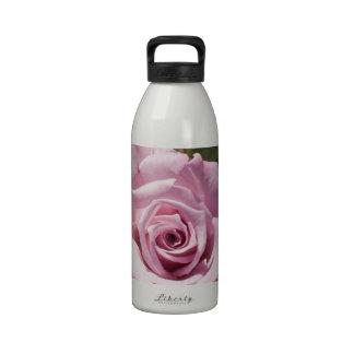 Beautiful pink rose water bottle