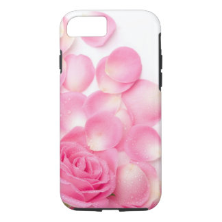 Beautiful Pink Rose with Scattered Petals iPhone 7 Case