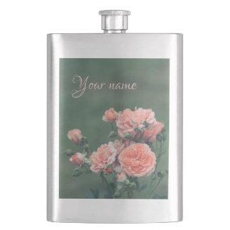 Beautiful pink roses. Add custom text. Flask