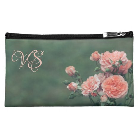 Beautiful pink roses. Add your monogram. Cosmetic Bag