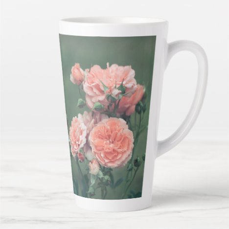 Beautiful pink roses. Add your own text Latte Mug