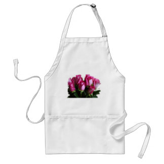 beautiful pink roses adult apron