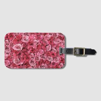 Beautiful Pink Roses Bag Tag