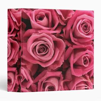 Beautiful Pink Roses Binder