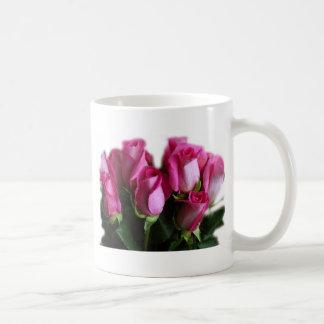 beautiful pink roses coffee mug