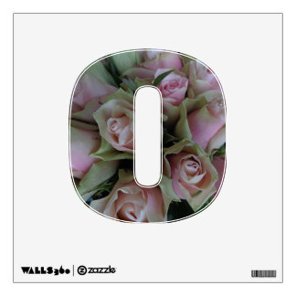 Beautiful Pink Roses Flower Bouquet Wall Decal