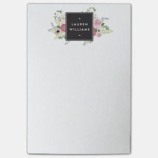 Beautiful Pink Roses Modern Elegance Post-it Notes