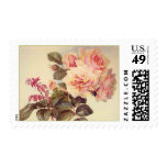 Beautiful Pink Roses Painting Postage