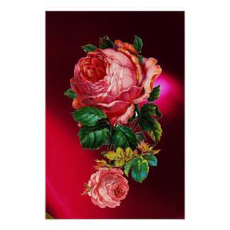BEAUTIFUL PINK ROSES POSTER